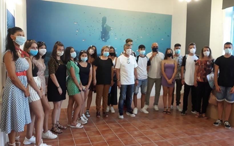 Μαθητές του Γυμνασίου Ευξεινούπολης στην Αλόννησο για εικονική κατάδυση στο ναυάγιο της Περιστέρας