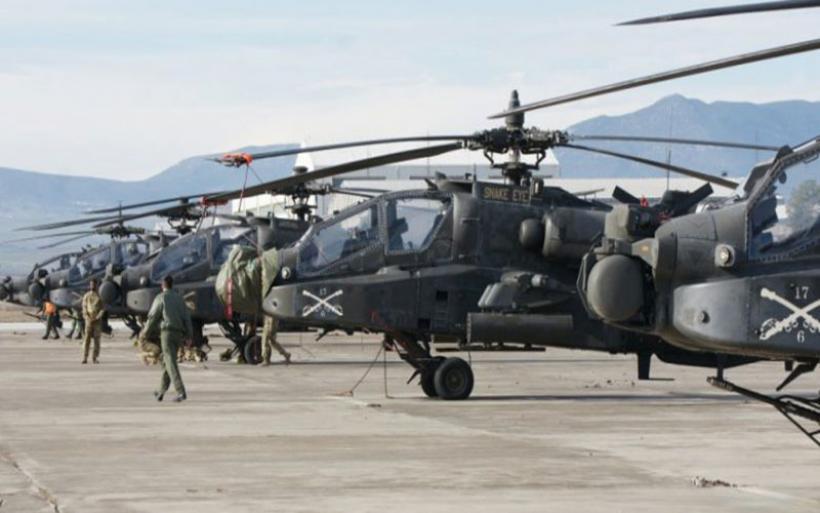 Σε εξέλιξη η ανάπτυξη Apache και Black Hawk της 3ης CAB στο Στεφανοβίκειο