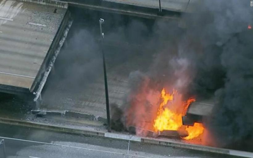 Κόλαση στην Ατλάντα: Κατέρρευσε η εθνική λεωφόρος μετά από φωτιά