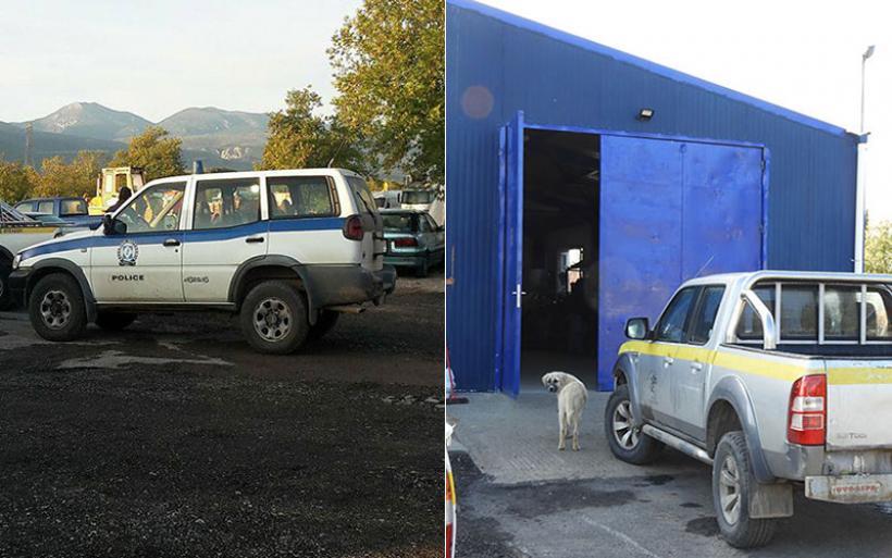 Κλιμάκιο της Σήμανσης στον Αλμυρό για την κλοπή στο αμαξοστάσιο του Δήμου