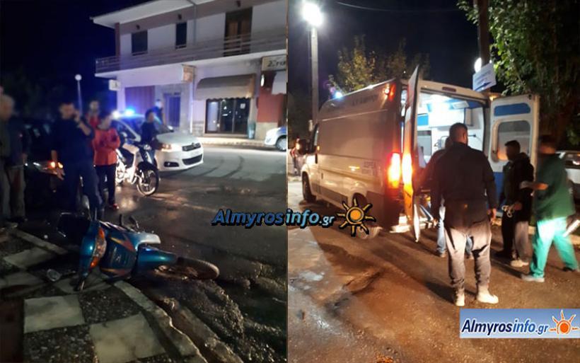 Τροχαίο ατύχημα στον Αλμυρό - Τραυματίστηκε δικυκλιστής