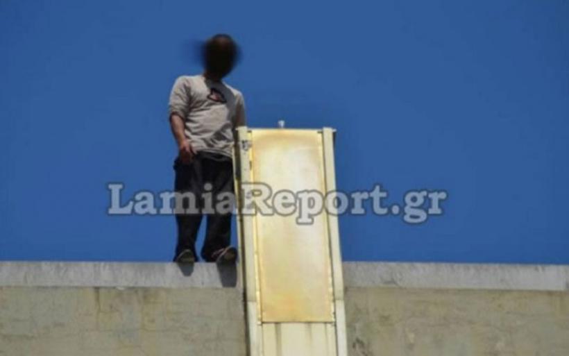 Λαμία: Συγκλονιστικό βίντεο - Αστυνομικός αποτρέπει την αυτοκτονία πολύτεκνου πατέρα