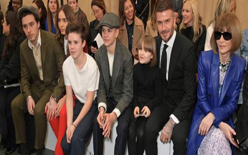 Σύσσωμη η οικογένεια Beckham στην παρουσίαση της νέας συλλογής της Victoria στο Λονδίνο!
