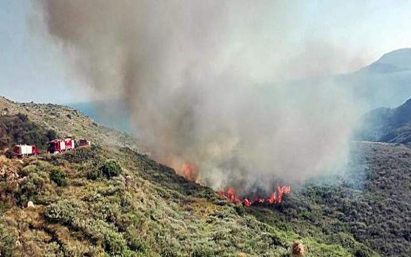 Μεγάλη φωτιά στο Καλαμάκι στην Ζάκυνθο -Πολλές οι εστίες [εικόνες & βίντεο]