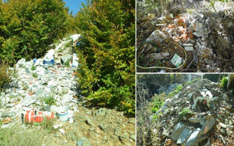 Επιτήδειοι πέταξαν τόνους μπάζα και σκουπίδια μέσα στο δάσος σε περιοχή Natura στο Πήλιο