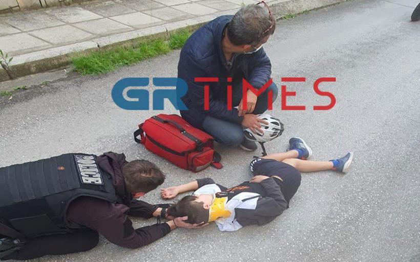 Θεσσαλονίκη: Σωτήρια επέμβαση αστυνομικού της ΔΙΑΣ για 13χρονο τραυματία τροχαίου