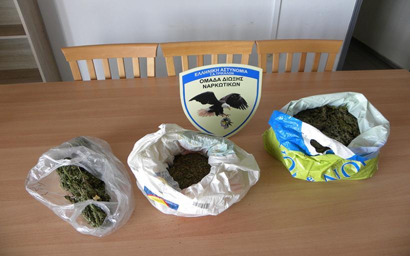 Τρίκαλα: Κατασχέθηκε πάνω από (1) κιλό ακατέργαστης κάνναβης που βρέθηκε σε οικία 33χρονου