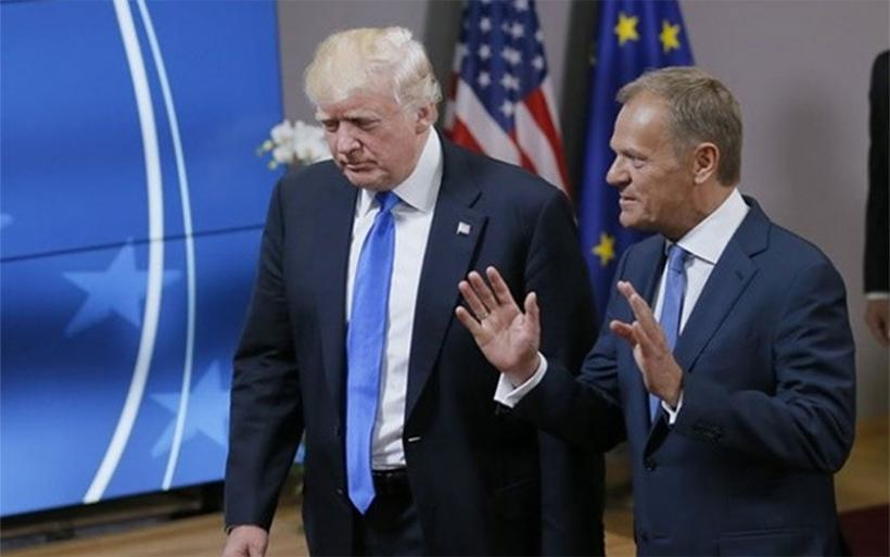 Ευρωπαϊκή Ενωση-Τραμπ διαφωνούν σχεδόν σε όλα - Το μήνυμα Τουσκ