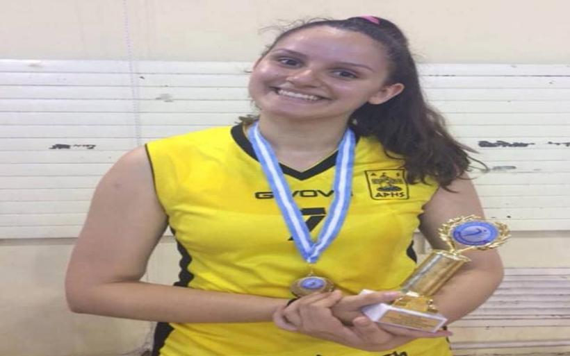 Ελευθερία Παπαδοπούλου, αθλήτρια του βόλλεϋ με τίτλο διάκρισης καλύτερης μπλόκερ