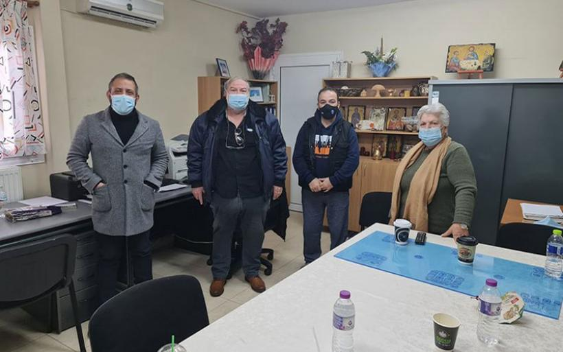 Ο Αλ. Μεϊκόπουλος στο Φιλανθρωπικό Σωματείο «Στοργή» του ΕΕΕΕΚ Αλμυρού