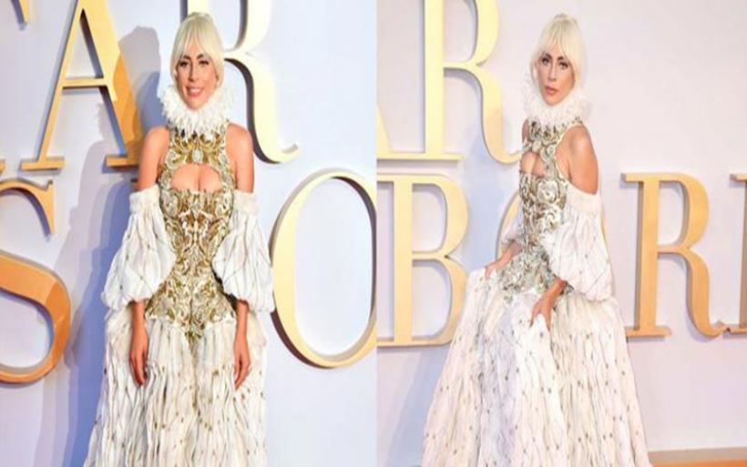 Η βασιλική εμφάνιση της Lady Gaga στην πρεμιέρα της στο Λονδίνο που καθήλωσε!
