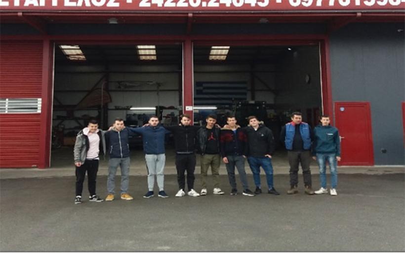 Διδακτική επίσκεψη μαθητών του 1ου ΕΠΑΛ Αλμυρού σε Ηλεκτρολογείο αυτοκινήτων