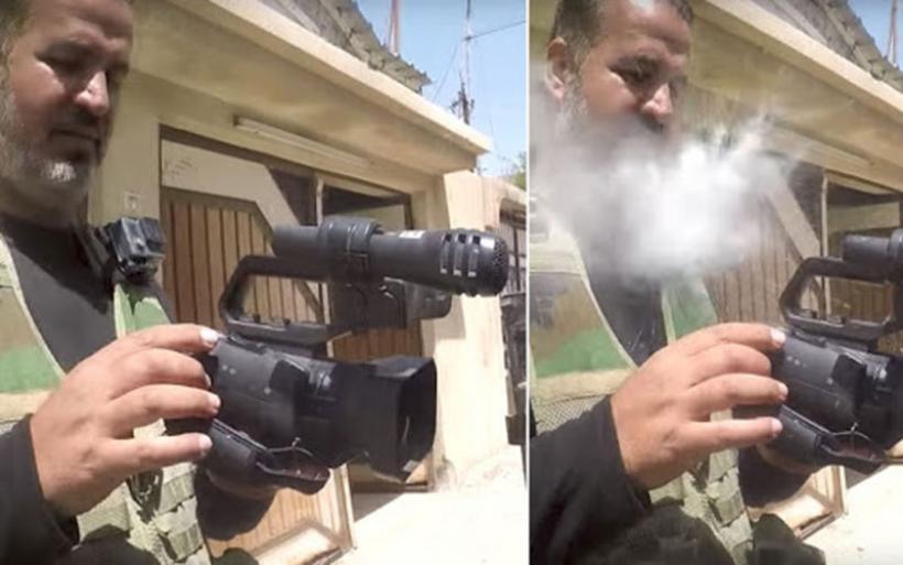 Κάμερα GoPro γλίτωσε δημοσιογράφο από τη σφαίρα ελεύθερου σκοπευτή στη Μοσούλη