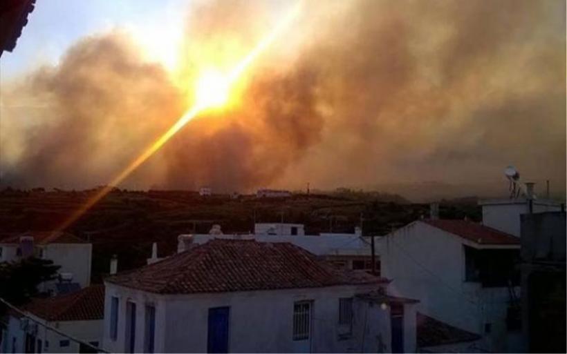 Ηλεία: Μεγάλη φωτιά στο προστατευόμενο δάσος του Κουνουπελίου