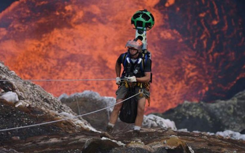 Το Google Street View στον κρατήρα του ηφαιστείου Μαρούμ!