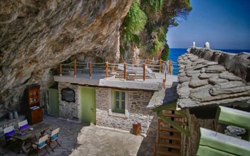 Εντυπωσιακή μεταμόρφωση μιας σπηλιάς σε κατοικία στην Νταμούχαρη Πηλίου