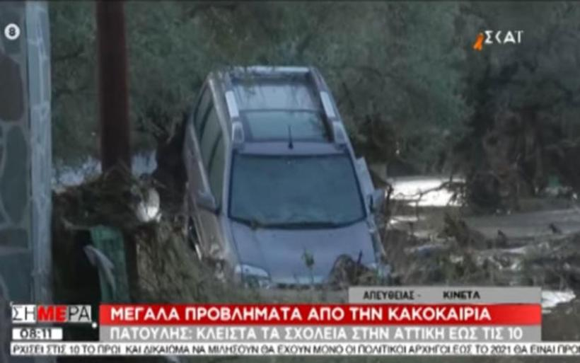 Βιβλική καταστροφή στην Κινέτα: Αυτοκίνητα βρέθηκαν πάνω σε δέντρα (video)