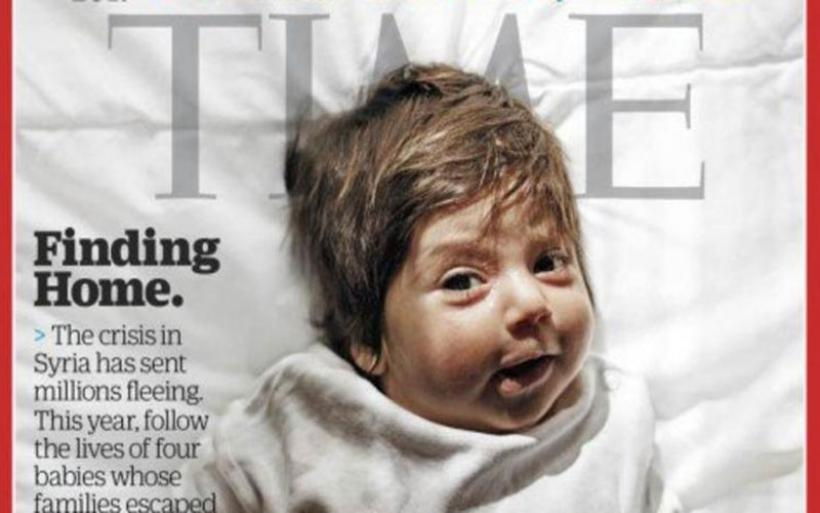 Προσφυγόπουλα γεννημένα στην Ελλάδα, εξώφυλλο του TIME
