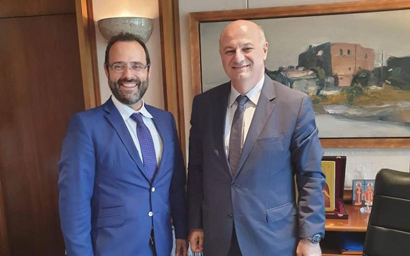Συνάντηση  Κων/νου Μαραβέγια με τον Υπουργό Δικαιοσύνης Κ. Τσιάρα