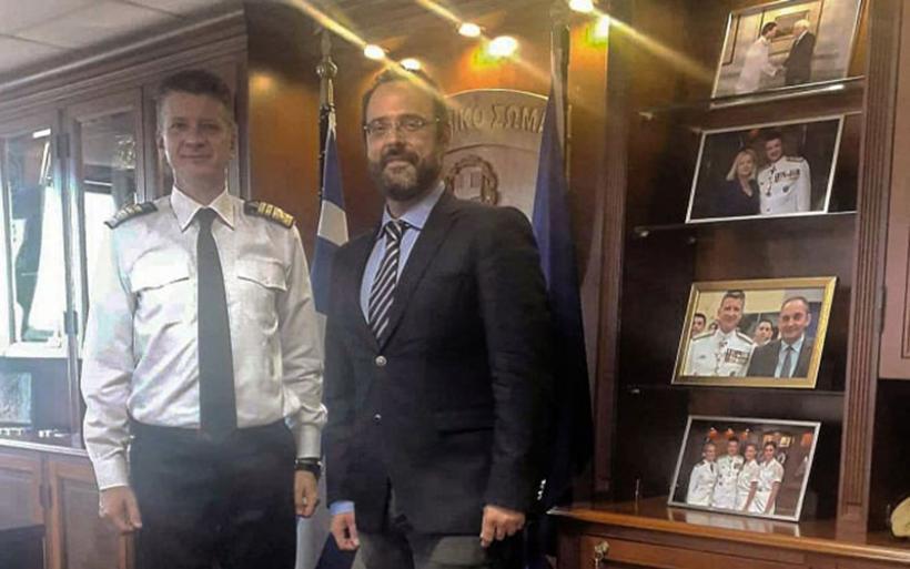 Συνάντηση Κ. Μαραβέγια με το νέο αρχηγό του Λιμενικού Θ. Κλιάρη