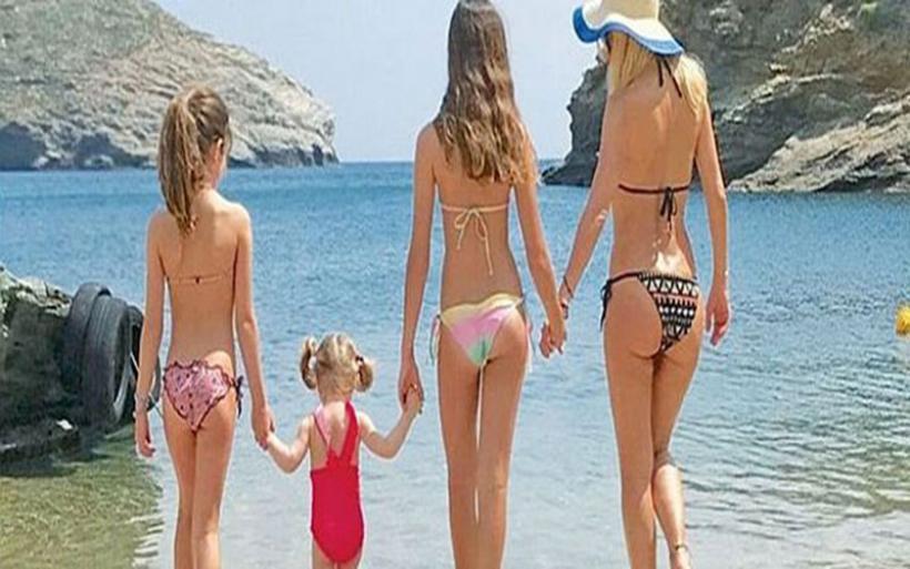 Ελένη Μενεγάκη: Η καλοκαιρινή φωτογραφία με τις κόρες της!