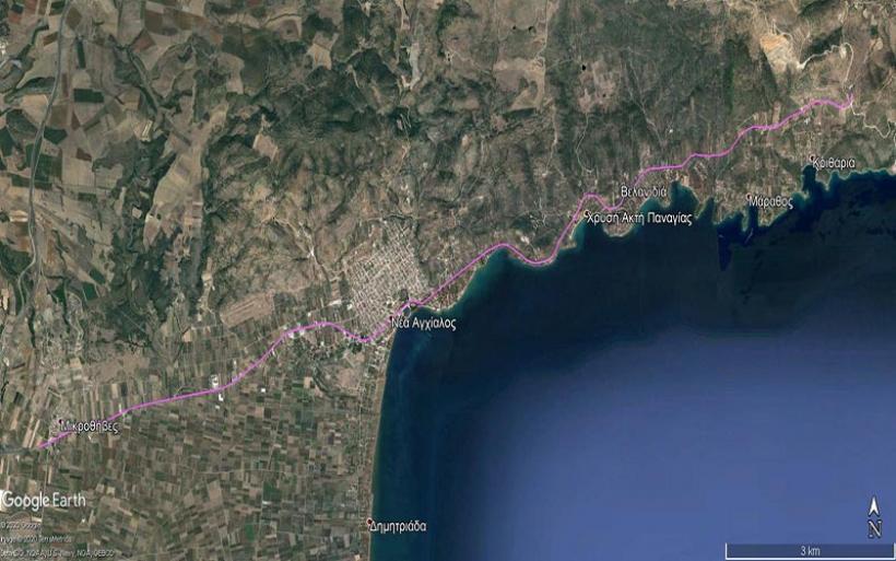 Δημοπρατείται από την Περιφέρεια Θεσσαλίας  η μελέτη του δρόμου  Μικροθήβες - Μπουρμπουλήθρα