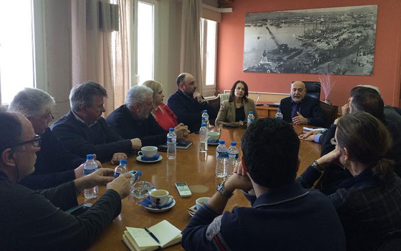 Επίσκεψη υφυπ Οικονομικών Κ. Παπανάτσιου στον ΟΛΒ
