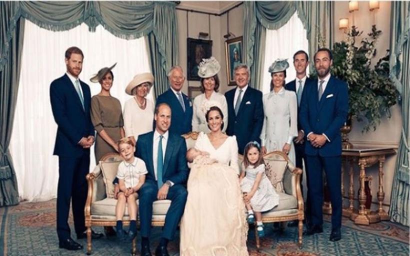 Η επίσημη φωτογράφιση μετά τη βάφτιση του πρίγκιπα Λούις