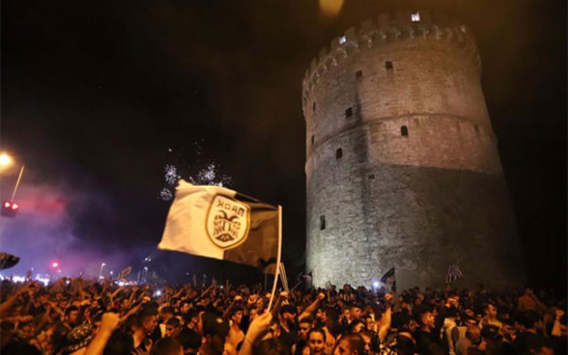 Αποθέωση για τους Κυπελλούχους του ΠΑΟΚ στη Θεσσαλονίκη (βίντεο)