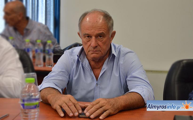 Έφυγε ξαφνικά από τη ζωή ο αντιδήμαρχος Αλμυρού Γιώργος ΠαπαΙωάννου