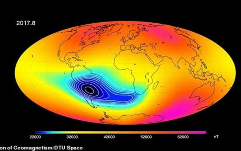 Ανακάλυψη σοκ: Εξασθενεί το μαγνητικό πεδίο της Γης μεταξύ Αφρικής και Ν. Αμερικής