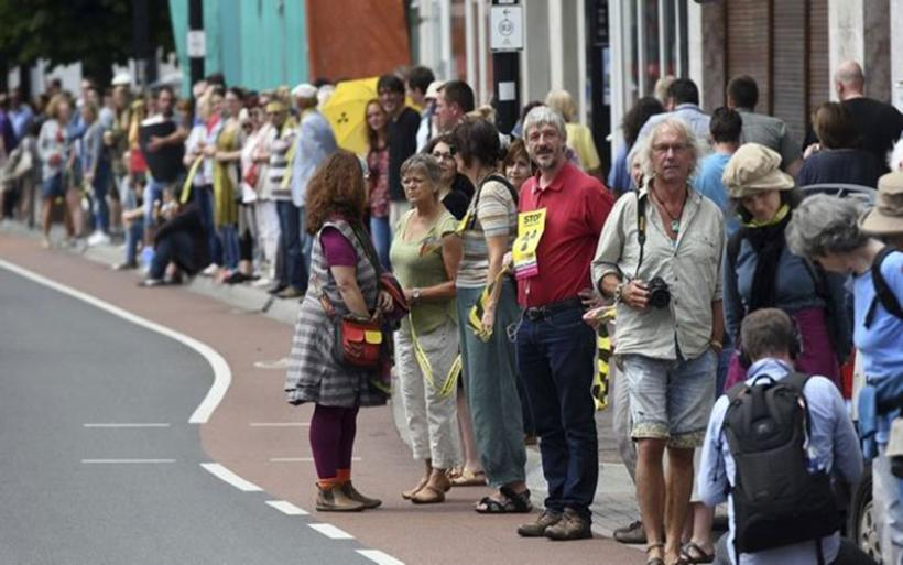 Ανθρώπινη αλυσίδα μήκους 90 χλμ. για το κλείσιμο των πυρηνικών σταθμών στο Βέλγιο