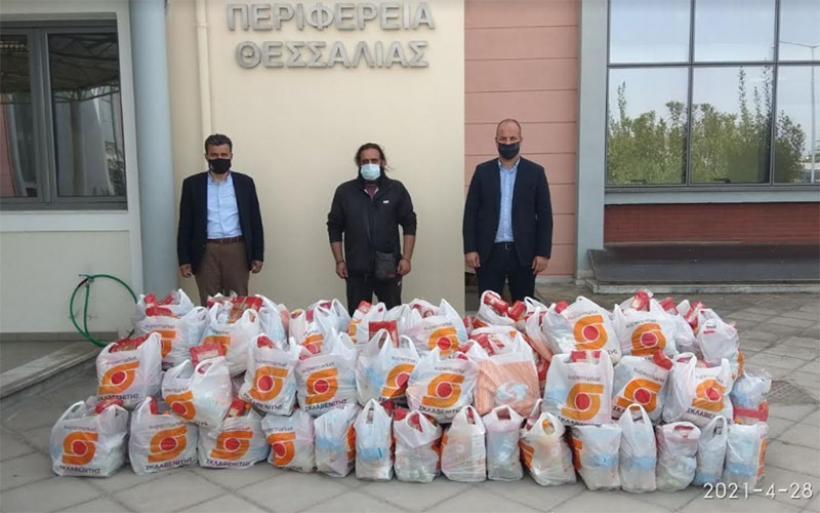 Προσφορά αγάπης  και αλληλεγγύης στον συνάνθρωπο  από την Περιφέρεια Θεσσαλίας