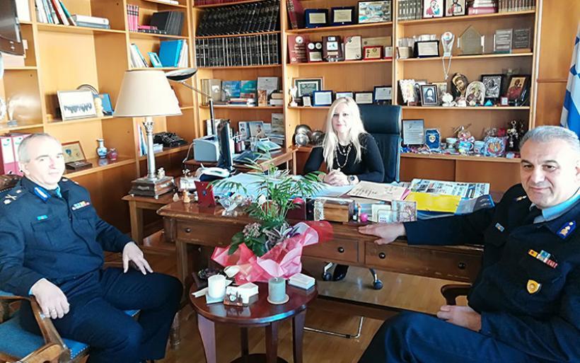 Συνάντηση Δ. Κολυνδρίνη με τον νέο Περιφερειακό Διοικητή της Πυροσβεστικής