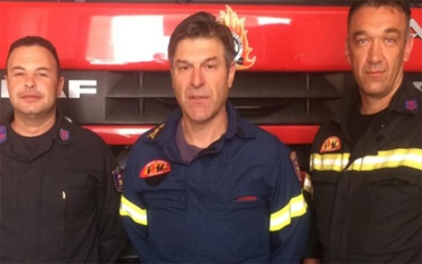 Οι τρεις πυροσβέστες που έσωσαν την 85χρονη Βολιώτισσα από πτώση