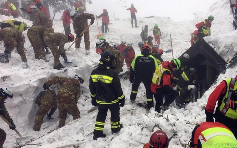 Ιταλία: Βρέθηκαν νεκροί και οι τελευταίοι αγνοούμενοι της χιονοστιβάδας