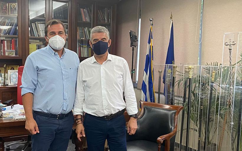 Συνάντηση Κ. Αγοραστού -Χρ. Κωστούλα στη Λάρισα - Ξεκινούν τα έργα στο γήπεδο της Σούρπης