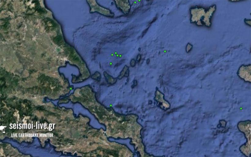 Πέντε σεισμικές δονήσεις μικρής έντασης τη νύχτα στις Σποράδες