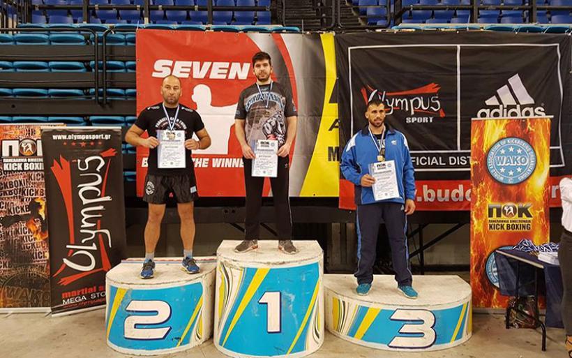 Χρυσό μετάλλιο και εθνική ομάδα για τον Αλμυριώτη Στεργιόπουλο στο Kickboxing (Φωτό)