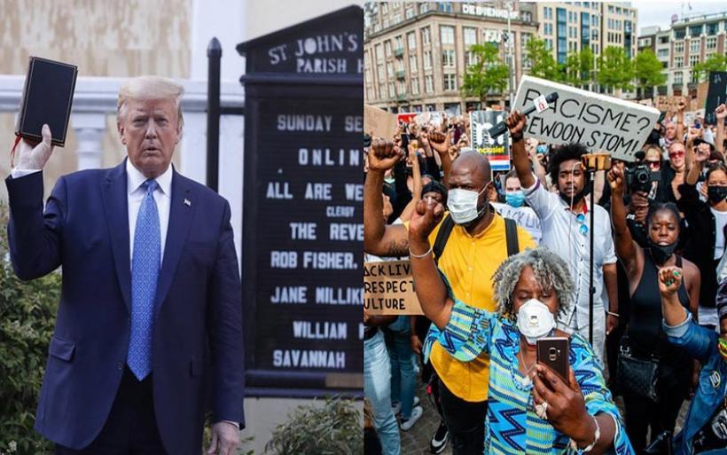 Δολοφονία Τζορτζ Φλόιντ: Ο Τραμπ επικαλείται το δόγμα «νόμος και τάξη» και ετοιμάζεται να βγάλει στρατό στους δρόμους