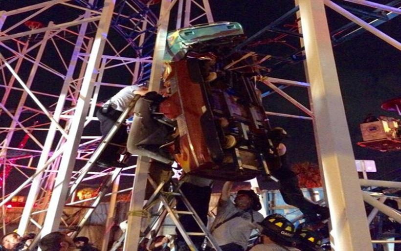 «Τρενάκι του τρόμου» εκτροχιάστηκε στη Φλόριντα -Επιβάτες έπεσαν στο κενό από ύψος 10 μ.