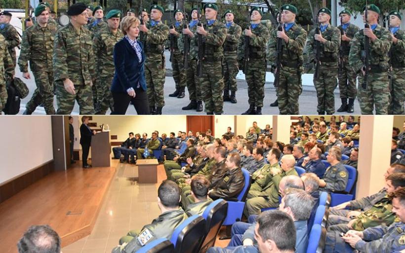 Στρατιωτικές μονάδες της Μαγνησίας επισκέφθηκε η υφυπουργός Εθνικής Άμυνας