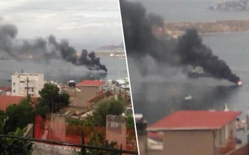 Βυθίστηκε θαλαμηγός στο Πέραμα - Σώοι οι επιβαίνοντες
