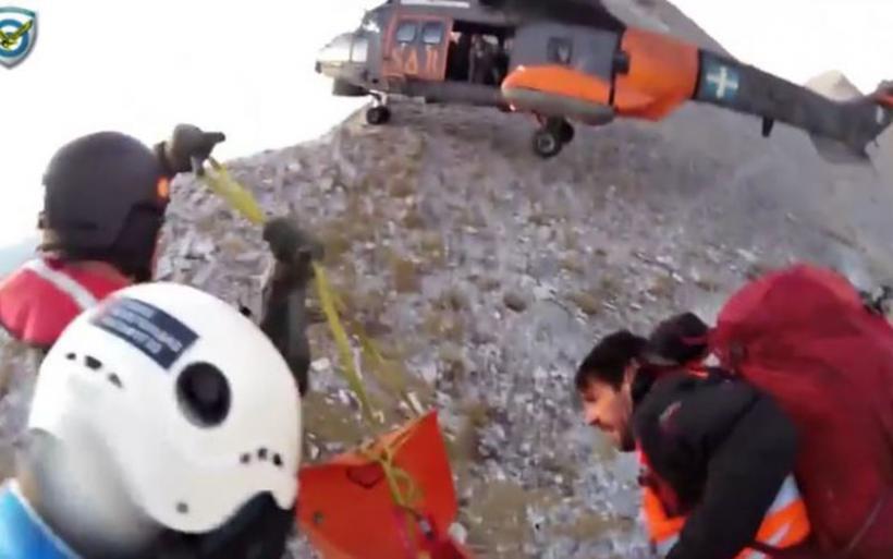 Διάσωση τραυματία στον Όλυμπο με επιχείρηση που θυμίζει… επικίνδυνες αποστολές