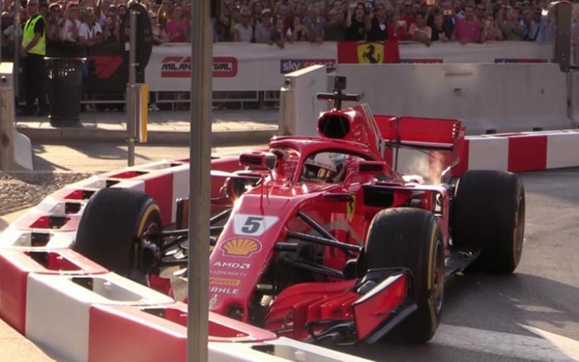 Τράκαρε... μόνος του ο Vettel