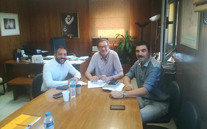 Συνάντηση Αλ. Μείκόπουλου με το Διοικητή και του Υποδιοικητή του Αχιλλοπούλειου Νοσοκομείου Βόλου