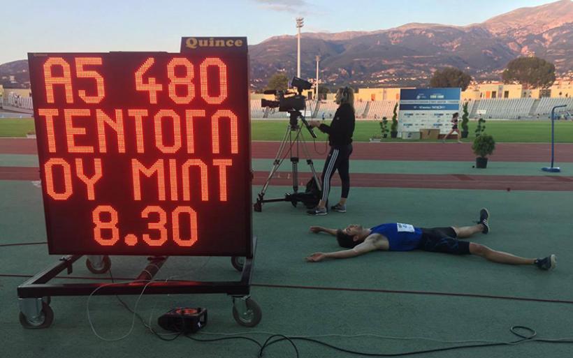 Στην 4η θέση παγκοσμίως Ο Μίλτος Τεντόγλου σημειώνοντας μεγάλο πανελλήνιο ρεκόρ εφήβων με 8.30μ