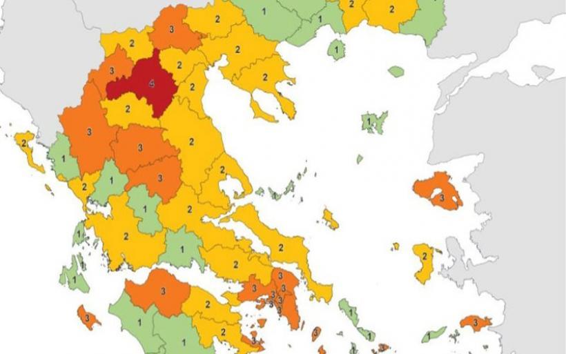 Χάρτης covid: Διατηρείται στο επίπεδο 2 η χερσαία Μαγνησία, στο 1 οι Σποράδες