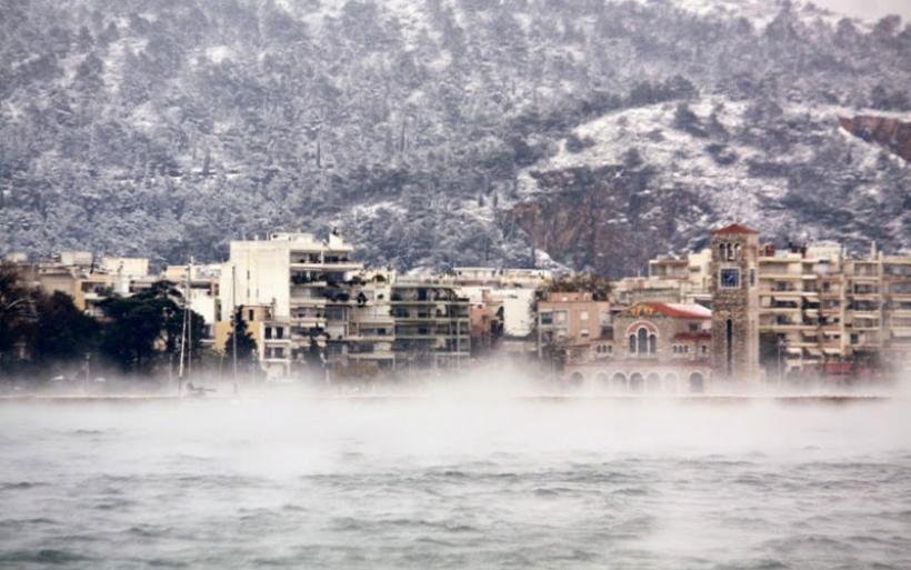 Έντονη χιονόπτωση στο Βόλο από το πρωί μέχρι το απόγευμα της Τετάρτης