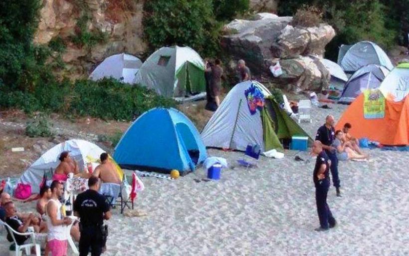 Μεγάλη επιχείρηση της Αστυνομίας στην Παρίσαινα στο Χορευτό –38 μηνύσεις για παράνομη κατασκήνωση
